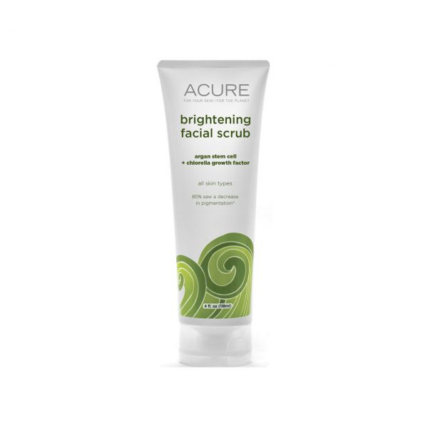BRIGHTENING FACIAL SCRUB - ARGAN STEM CELL + CHLORELLA BY ACURE ORGANICS