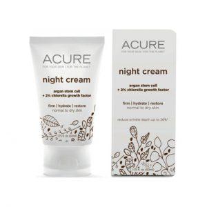 NIGHT CREAM - GOTU KOLA + CHLORELLA BY ACURE ORGANICS