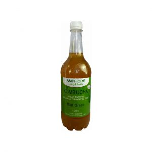 KOMBUCHA MINT GREEN - DELICIOUS FERMENTED GREEN TEA BY AMPHORE LIVING FOODS