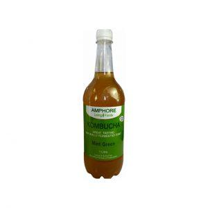 KOMBUCHA MINT GREEN - DELICIOUS FERMENTED GREEN TEA BY AMPHORE LIVING FOODS