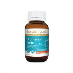 Bromelain Forte - Aids Protein Digestion - Relieves Mild Sinusitis by Herbs of Gold