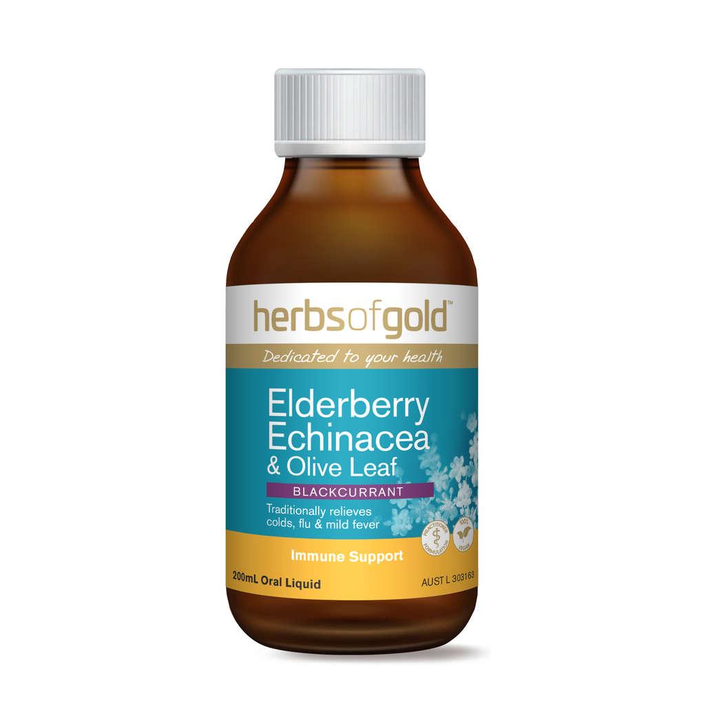 Herbs of Gold - Elderberry Echinacea & Olive Leaf - Elite ...
