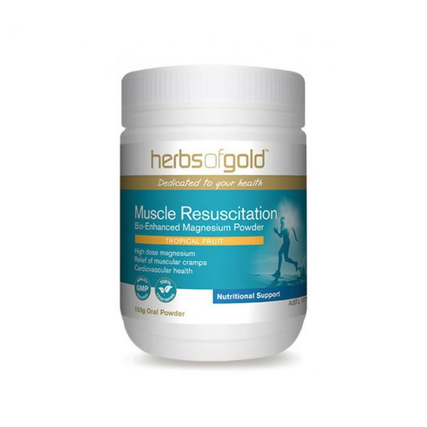 Muscle Resuscitation - High Dose Magnesium - Reduce Muscular Cramps - Headaches - Energy Production by Herbs of Gold