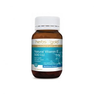 Natural Vitamin E 500 I.U. - Cardiovascular Health - Antioxidant by Herbs of Gold