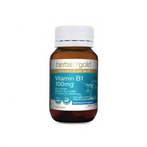 Vitamin B1 100mg - Supports Nerve Health - Assists Digestion by Herbs of Gold