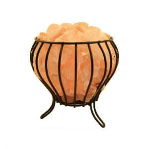 HIMALAYAN SALT LAMP BUD SHAPE FIRE BOWL - NATURE'S NATURAL IONIZER