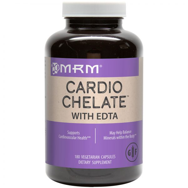 CARDIO CHELATE WITH EDTA - CARDIOVASCULAR HEALTH - REVERSE HEAVY METAL POISONING - DETOXIFICATION BY MRM