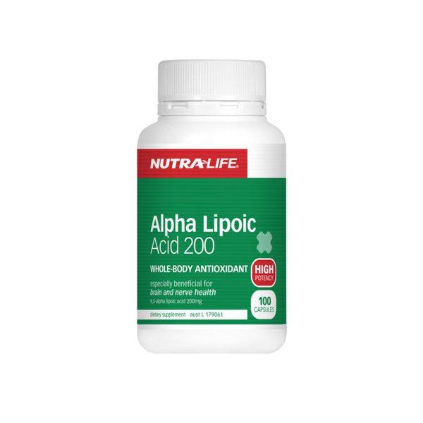 ALPHA LIPOIC ACID 200MG BY NUTRA LIFE