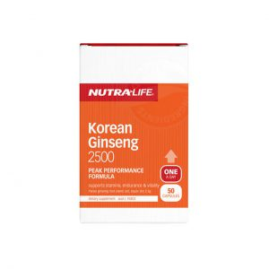 KOREAN GINSENG 2500 BY NUTRA LIFE
