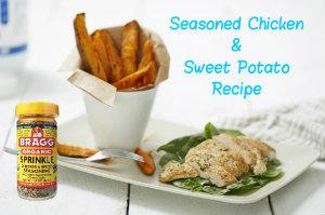 seasoned chicken and sweet potato recipe