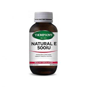 Natural E 500IU - Antioxidant - Cardiovascular Health by Thompson's