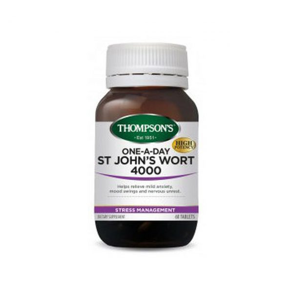 One-A-Day St Johns Wort 4000 - Reduce Stress & Anxiety by Thompsons